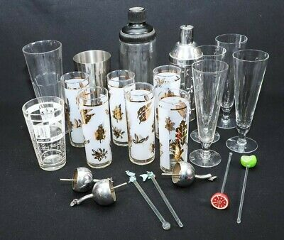 Mid-century Modern Bar Ware Mixing Tool Set Really Cool Addition For Your Bar Zorgvuldige Verfprocessen