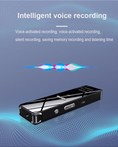 USB Sound Recorder Rechargeable Digital Audio Sound Voice Recorder MP3 Player UK