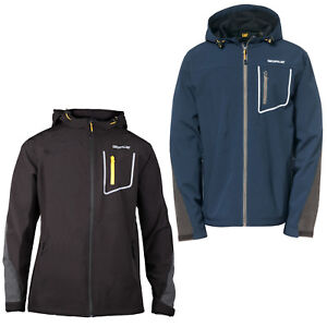 Men/'s Solid White Reflective Logo Print Hooded Soft Shell Windbreaker Jacket M