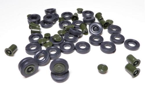 H0 Felgen Doppelfelgen Rad Reifen Bereifung W 50 G 5 Hänger Felge grün 175000054