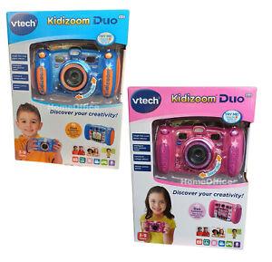 Vtech-Kidizoom-DUO-Kids-Bambino-fotocamera-digitale-5-0-Blu-o-Rosa-kiddizoom
