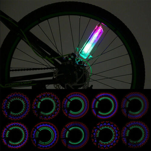 32 LED Patterns Cycling Bikes Bicycles Neon Wheel Signal Tire Spoke Light New
