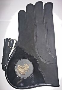 Falconry-Glove-Triple-Skin-Nubuck-Leather-12-034-3-Layer-Charcoal-Black-P-7284