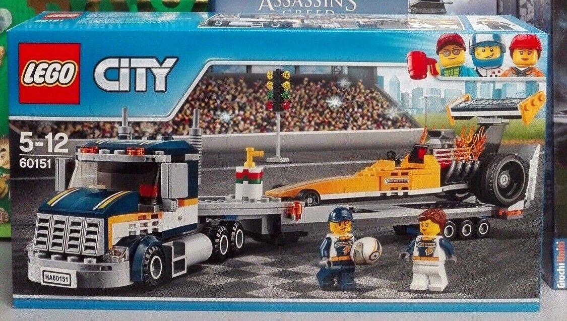 LEGO CITY 60151 - TRASPORTATORE DI DRAGSTER - NUOVO