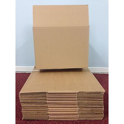 100 - 9 x 6 x 6 / 229 x 152 x 152 mm STRONG SINGLE WALL CARDBOARD BOXES FREE 24h