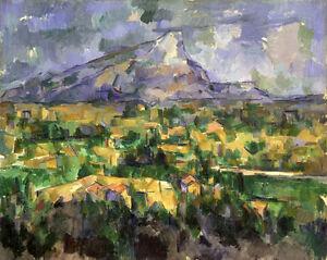 Oil-painting-Paul-Cezanne-Impression-landscape-Mont-Sainte-Victoire