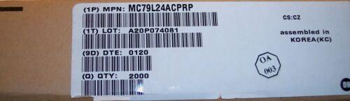 100 MC79L24ACP ON SEMI TO-92 24 VOLT NEGATIVE VOLTAGE REGULATORS QTY