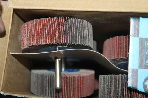 CASE OF 10 NEW Pferd Flap Wheels fd 45462 3x1 f7625-4 1//4shank flap wheel