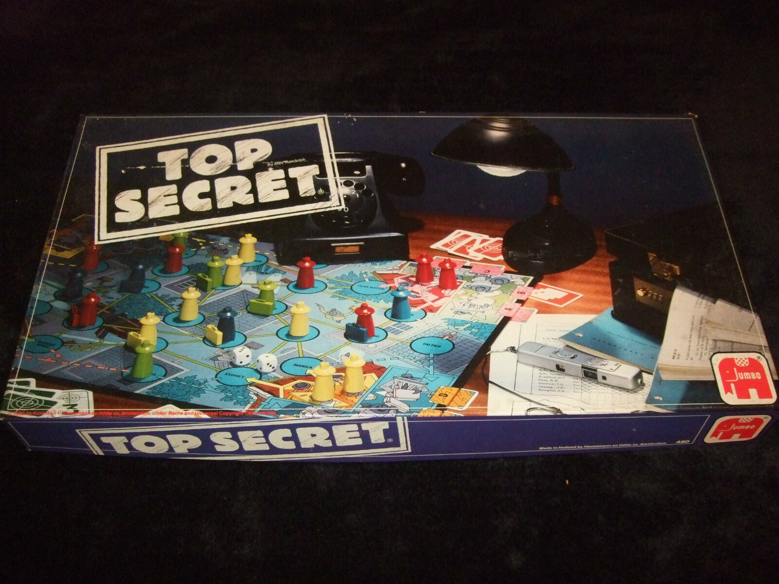 TOP SECRET - VINTAGE FAMILY BOARD GAME 1985 RARE - MADE BY JUMBO