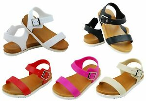 Kali Girls Sandals Open Toe Only-G-JR Buckle Ankle Strap Black Size 1 Youth NEW
