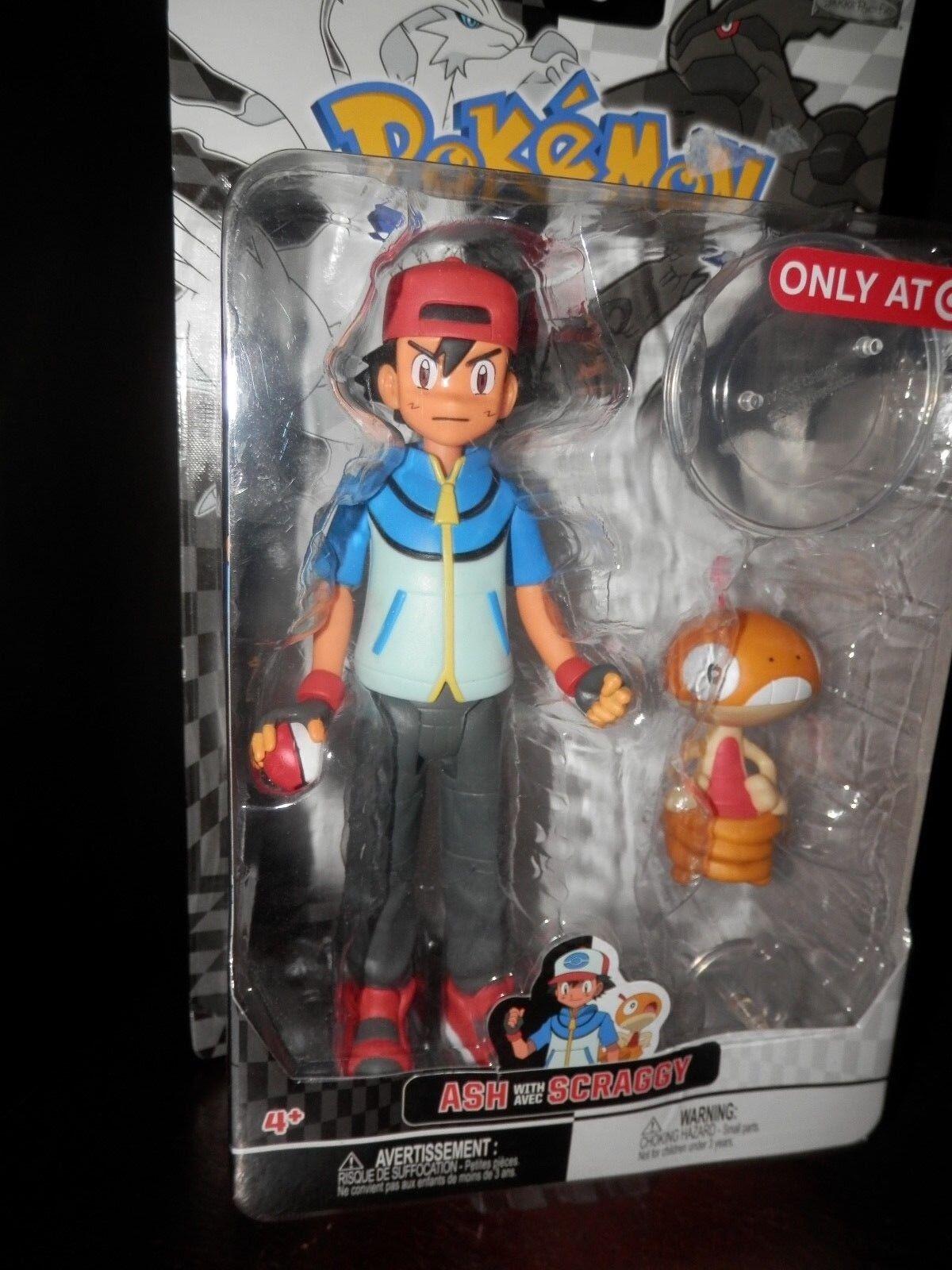 diseñador en linea Pokemon Ash con avec Scraggy objetivo Exclusivo Exclusivo Exclusivo Nuevo Sellado 2012 Jakks Pacific  edición limitada en caliente