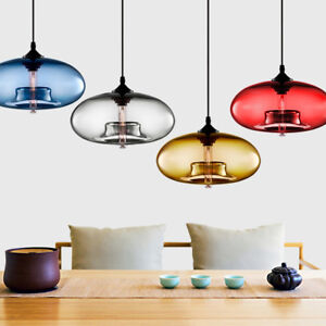 Image Is Loading Modern Colored Gl Ceiling Light Chandelier Loft Lighting