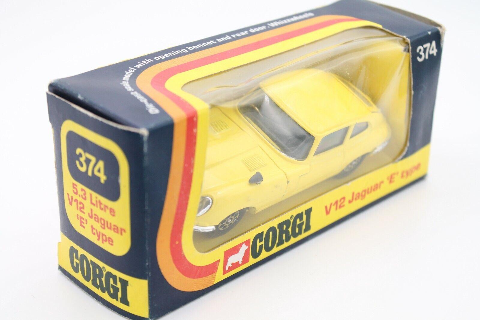 CORGI SpielzeugS 374   JAGUAR E-TYPE V12 COUPE   1 43  OVP  MINT