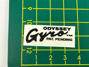 old school bmx decals stickers odyssey gyro cable decals version 2 black