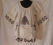 Vintage Men women Mud cloth dashiki Shirt African Blouse Organic Cotton One Size