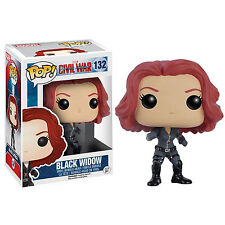 Funko Civil War POP Black Widow Bobble Head Vinyl Figure NEW Toys Marvel