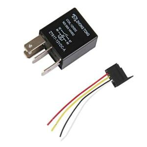 1Pair-x-auto-camion-12V-30A-30-AMP-SPST-Relay-Rele-4-Pin-amp-Socket-4-Wire