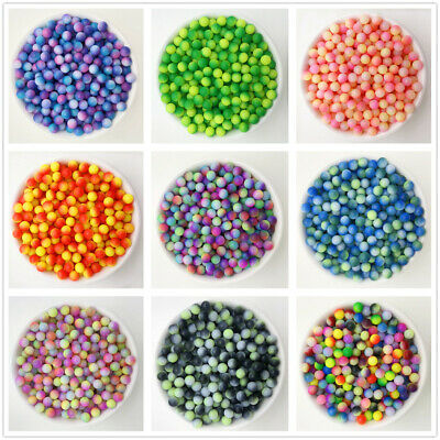 NEW 10PCS 10mm Glass Round Pearl Spacer Loose Beads Pattern Jewelry Making 04