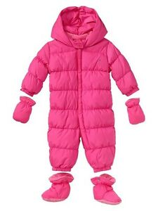 5023f8317 GAP Baby Girl 0-6 Months NWT Warmest Puffer Snowsuit   Jacket   Coat ...