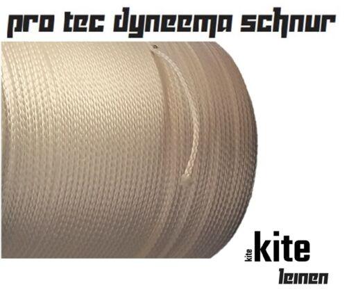 Dyneema Pro Seil Kite-Segel-Flugleine weiß 0.6mm 100m UL-light  Flechtschnur