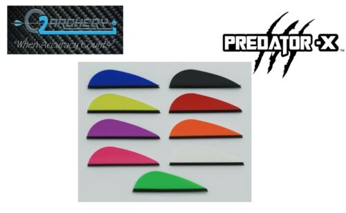 """2.0/"""" Predator  X Vanes By Q2I Archery Package of 50 Mix and Match"""