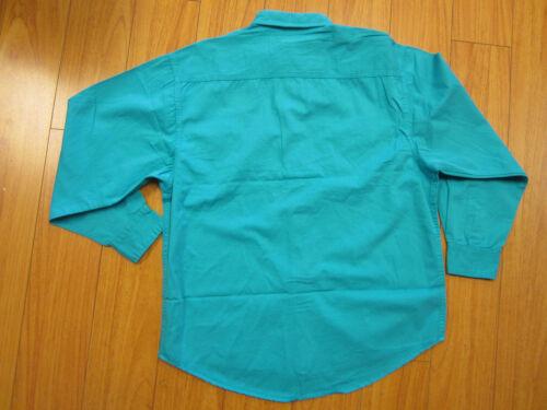 Vintatage NOS SE JOLIE turquoise mens long sleeve shirt Large