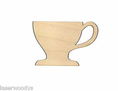 English Tea Cup Unfinished Wood Shape Cut Out ETC126 Crafts Lindahl Woodcrafts