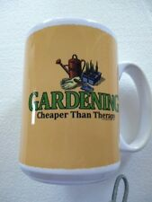 "33% OFF!  15 oz. ""Gardening ..."" Ceramic Mug Dishwasher/Microwave Safe Tools"