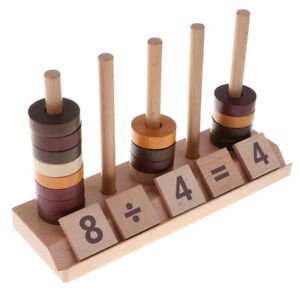 Wooden Math Set Montessori Leaning Kids Educational Tools
