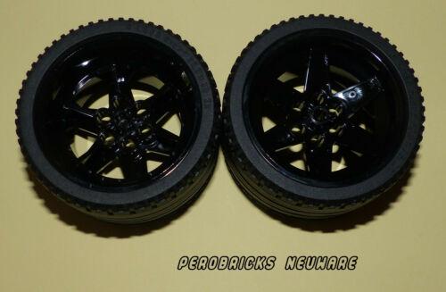 Lego Technic Technik 2 Räder Rad Reifen 68,8 x 36ZR schwarze Felgen NEUWARE