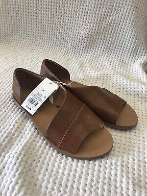 Cognac Brown Universal Thread Lissa Women/'s Asymmetrical Slip-On Slide Sandals