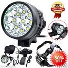 20000LM 9 x CREE XM-L T6 LED 8 x 18650 Bicycle Cycling Light Waterproof headLamp