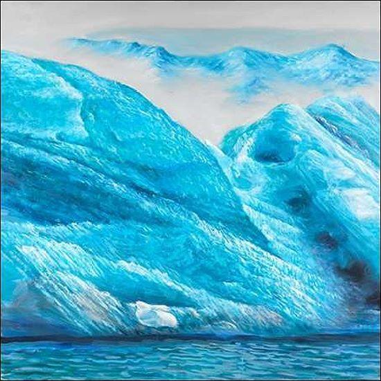 Atelier B  Icebergs Keilrahmen-Bild Leinwand Eisberg Arktis Eis blau kalt