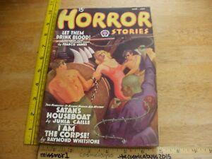 HORROR Stories Jun 1938 VINTAGE pulp magazine bondage torture cover ...