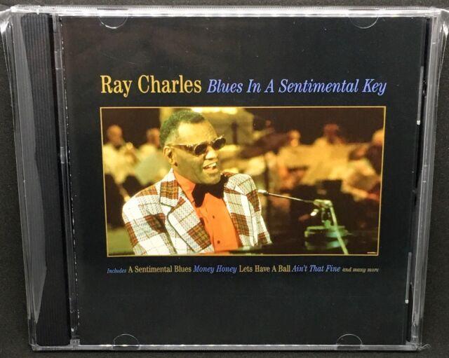 RAY CHARLES - BLUES IN A SENTIMENTAL KEY, CD ALBUM.