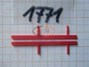 10x ALBEDO Ersatzteil Ladegut Unterfahrschutz Leitstange rot H0 1:87 - 1771