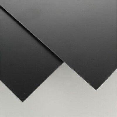 2 Black Styrene Polystyrene Plastic Sheet .125 X12x12 1//8 Vacuum Forming Print
