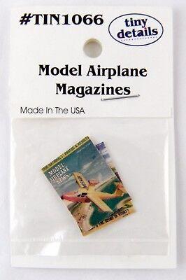 Model Airplane Magazines Dollhouse Miniatures Tiny Details #TIN1066 2