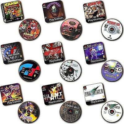 Tekken 2 PlayStation PS1 Box Art Wood Coasters Set Of 2 Disc Art