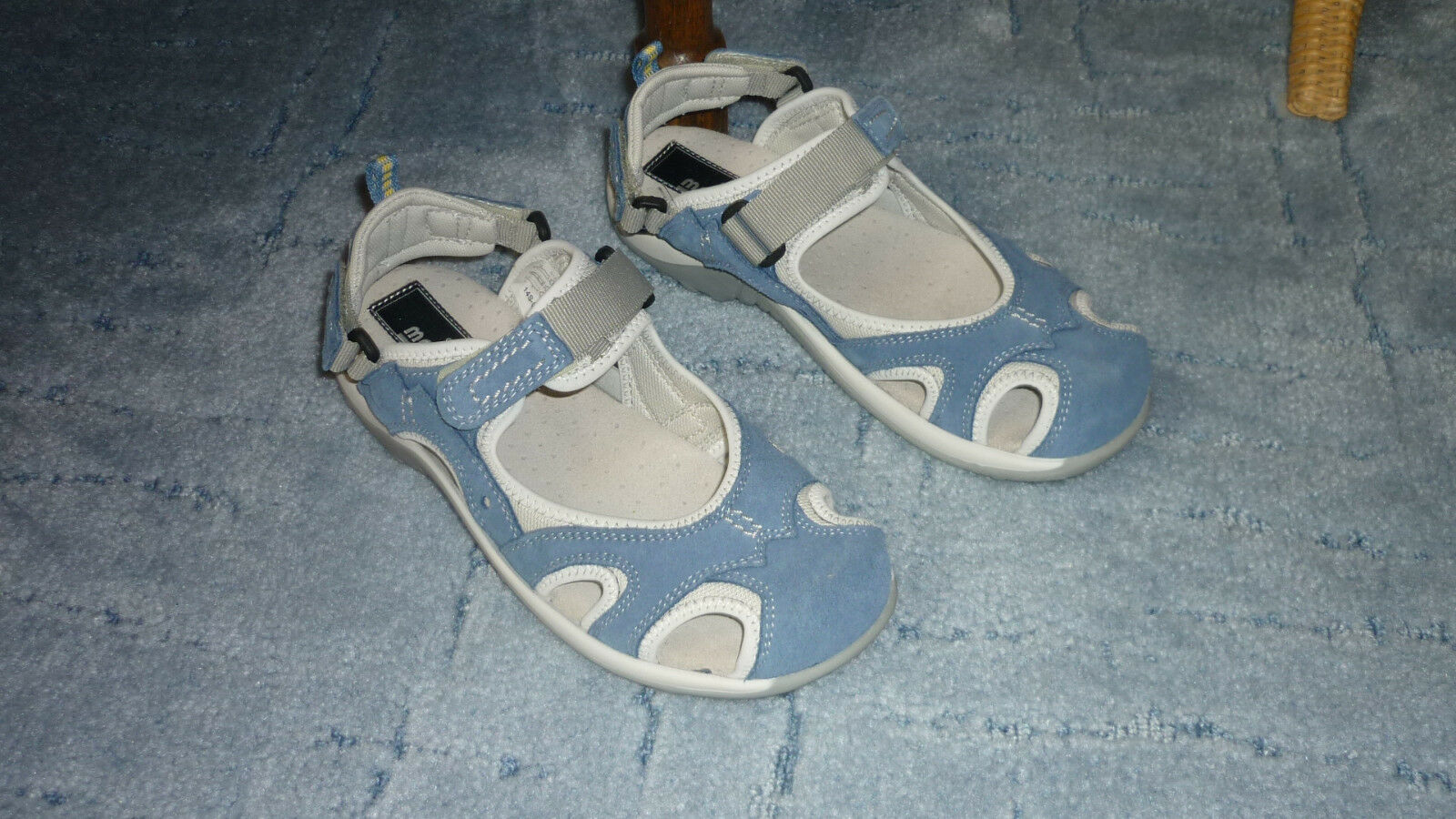 Manitu  Damen Slingback Sandale, Sandaleetten Blau Gr.38 NEU