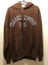 Washington DC Hoodie Sweatshirt Full Zip Up XXL EXCELLENT