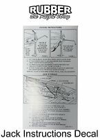 1965 Ford Thunderbird Jack Instructions Decal