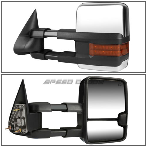 """POWER HEAT TOW MIRROR SIDE LED+2/"""" BLIND SPOT CORNER CONVEX FOR 99-02 GMT800"""
