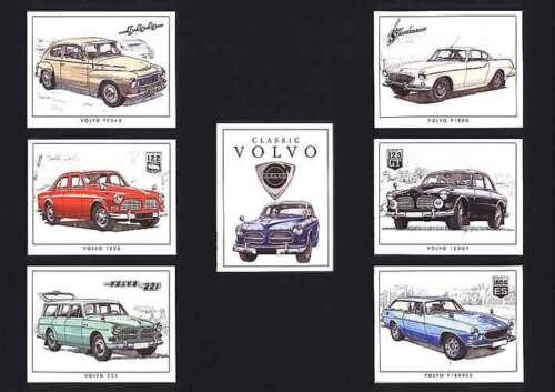 GOLDEN ERA 2003 SET OF 7  CLASSIC  VOLVO  CARDS
