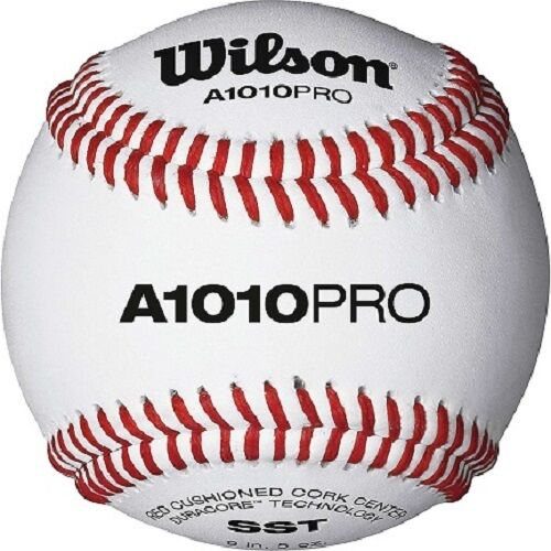 Wilson A1010PRO High School College Level NFHS Stamped Baseballs (1 dozen)