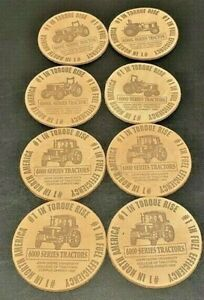JOHN DEERE UNIVERISTY 1995 COLLEGE COASTERS 6000 Series Tractors, Set of 8 RARE