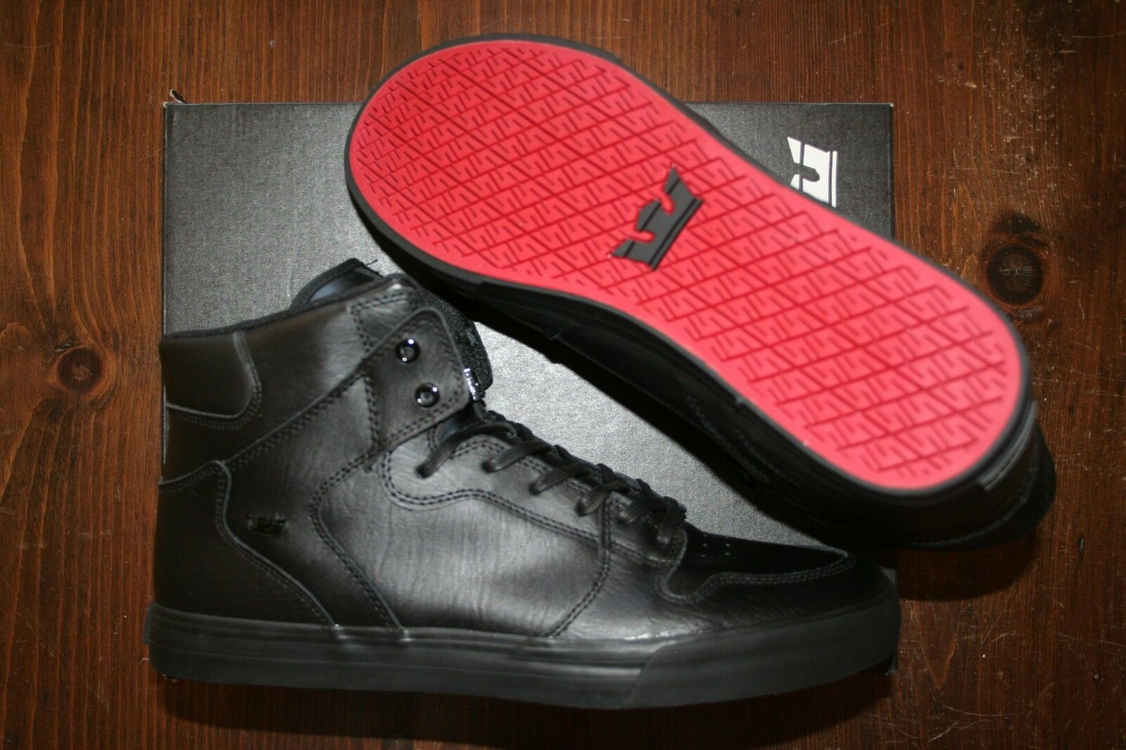 NEW BLACK NEW SUPRA VAIDER BLACK BLACK NEW ROT SURF BMX SNOW SKATEBOARD SPORTS Schuhe 14 0bdc54
