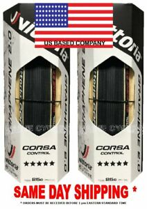 tan    USA based Vittoria Corsa Control G 2.0 Graphene clincher 700 x 25 black