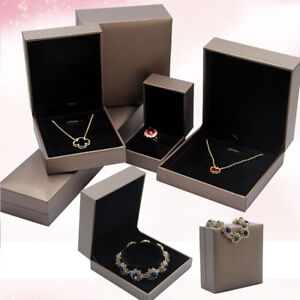 Details About Leather Paper Present Gift Boxes Case Bangle Jewelry Ring Earrings Necklace Box