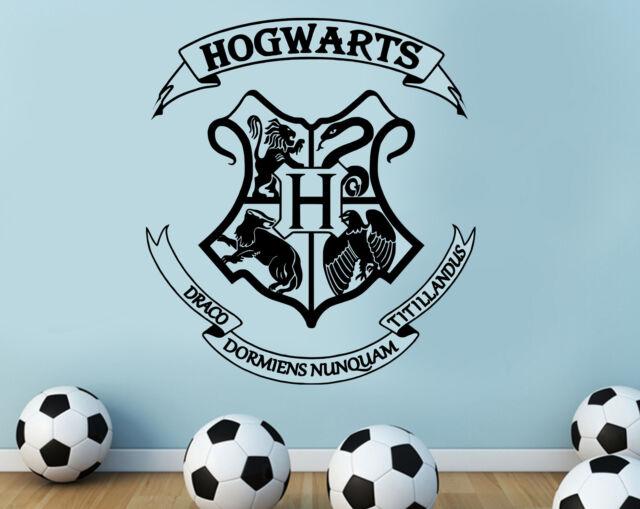 harry potter hogwarts coat of arms cut vinyl wall art sticker